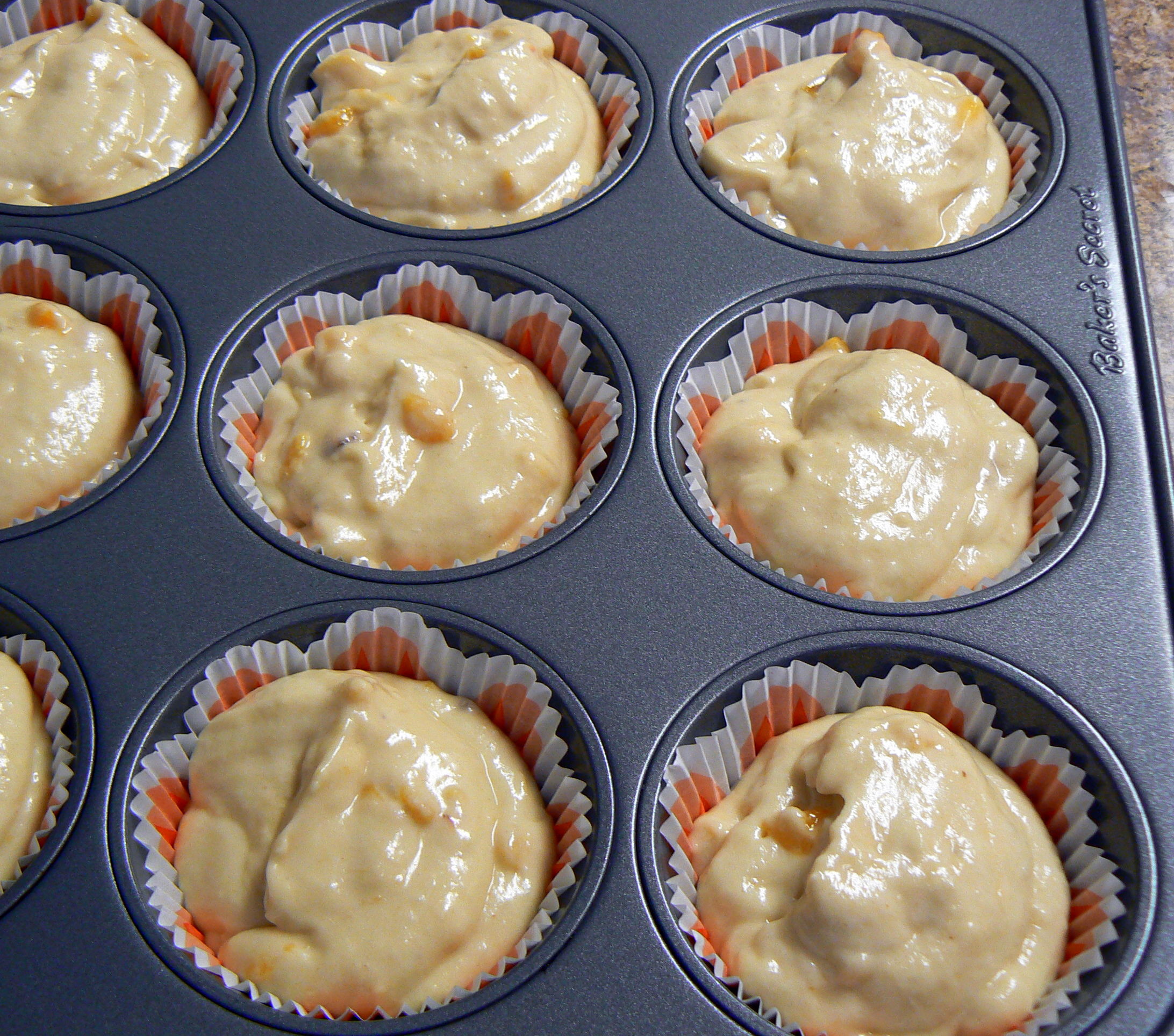 Peach cupcakes with brown sugar, peach schnapps frosting | Jamie Cakes